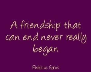 friend end